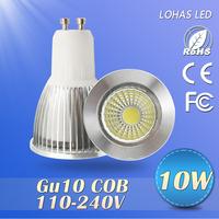 6pcs/lot Best Dimmable 10W/15W Super bright COB LED Light 110-240V Bulb Lamp  Cool Warm white GU10 LED Lamps