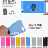 0.3mm Super Ultra Thin Slim Colorful Matte Frosted Transparent Crsytal Clear Soft PP Cover Case Skin for iPhone 5 5S 100pcs/lot