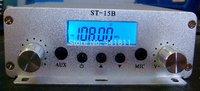76-108MHZ  15W stereo PLL broadcast radio FM transmitter ST-15B V3  RCA  only host