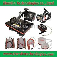 Advanced New Design 8 In 1 Combo Heat Press Machine ,Plate/Mug/Cap/TShirt heat press,heat transfer machine,Sublimation machine