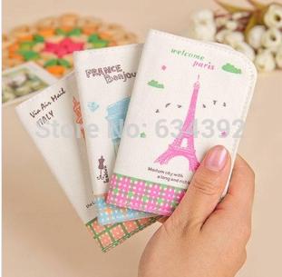 2014 new Women's Paris Design ID Credit Cute Card Pocket Bag Wallet Holder Case(China (Mainland))