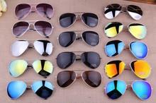 MIX Colors Free Shipping 2014 Sale  Designer Blue Mirrored Sunglasses Men Silver Mirror Vintage Sunglasses Women Glasses Hot(China (Mainland))