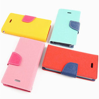 Mercury Goospery Series Color Button Case For iPhone 5 5G 5S PU Leather Wallet Stand Function Cover Mobile Phone Bags AAA03748