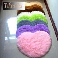 4.5cm thicken 40*50cm Japanese Style modern Heart Shape shaggy Carpet / rug / doormat carpet for living room bedroom rugs mat