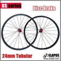 Newest Road Disc Brake 700c Full carbon road bike disc wheels tubular 24mm only 1275g/pair!