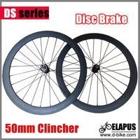 NEW!! DISC ROAD 700c road carbon bike wheel clincher 50mm with Powerway Disc Brake road hub