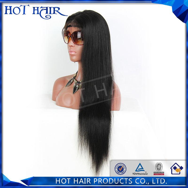 Brasiliana capelli vergini pieno parrucca del merletto dei capelli naturali e merletto parrucca anteriore 100% peli non trasformati umano