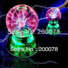 High-quality USB magic ball Glass static Plasma Ball Sphere induced Lightning Light Lamp+USB cable +audio control+Gift box(China (Mainland))