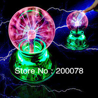 High-quality USB magic ball Glass static Plasma Ball Sphere induced Lightning Light Lamp+USB cable +audio control+Gift box