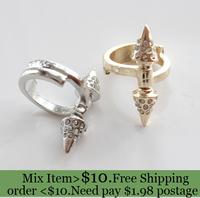 ZH0793 New fashion Jewelry rhinestone punk rivet finger rings nice gift for women girl ladie's