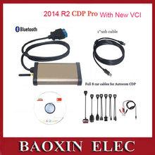 2014 Car diagnostic tool TCS CDP Pro For Autocom obd2 Cars & Trucks(Compact Diagnostic Partner)+Bluetooth+Full set 8 car cables(China (Mainland))