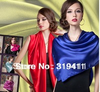 2014 new spring solid color Silk Square Scarf Women Fashion Brand High Quality imitate Silk Satin Scarves Shawl Hijab SC0272