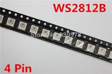 WS2812B (4pins) 5050 SMD W/ WS2811 Individually Addressable Digital RGB LED Chip 5V(China (Mainland))