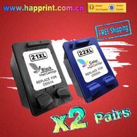 C9351A C9352A Inkjet Ink Printer Cartridge for HP 21XL 22XL 21 22 Deskjet 3910 3920 3930v 3940v D1360 D1400 D1415 F4180.(2Pairs)