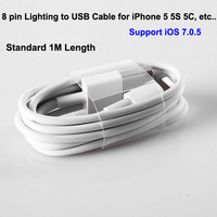 Lighting 8 Pin Data Sync Transfer Charger USB Cable Cord Lead for New iPhone 5 5S 5C iPod Touch 5 Support IOS7