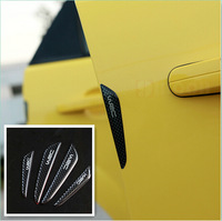 Black Silver Car Door Protector Fiber Door side Edge Protection Guards Stickers for Any car