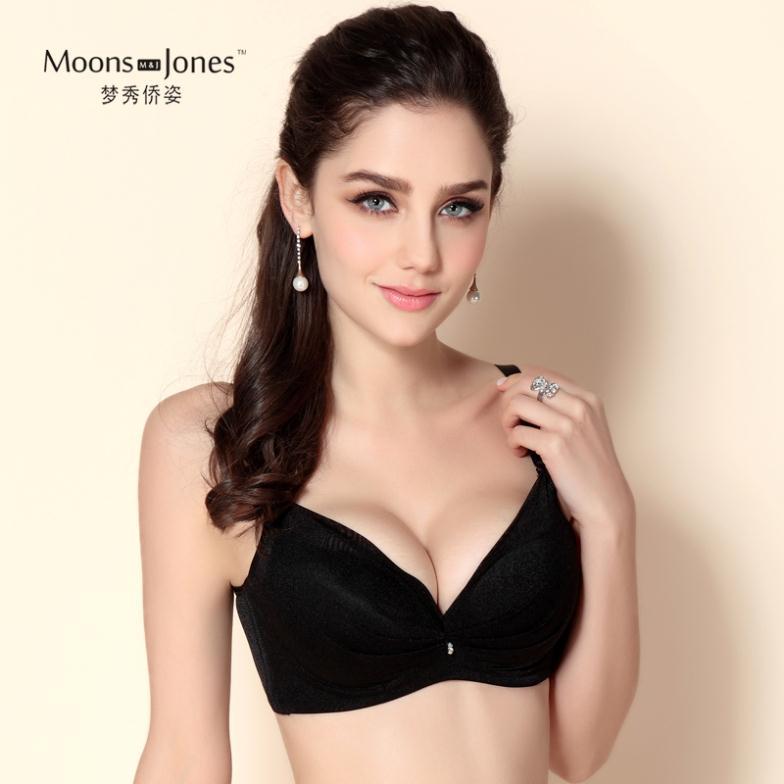 Free shipping women's Sexy deep V-neck push up adjustment bra C cup bra brassiere Sutian Beige/Pink/Black/White m679(China (Mainland))