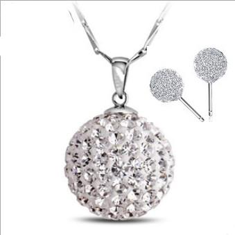 Ювелирный набор DALI Jewelry Shamballa , 925 , 3 WS06 браслеты шамбала shamballa original в днеперопетровске