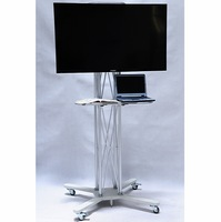 "Tradeshow tv stand/exhibition display/32"" to 70"" plasma or LCD television stand/Aluminumn truss Mobile stand/Silver"