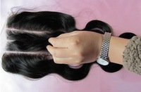 6A Grade Lace Closure 3 Part Lace Closures Body Wave Hair 3.5x4  Free/Middle Part Natural Color Bleached Knots High Quality