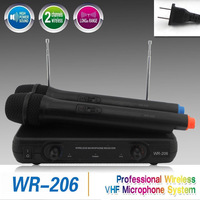 Free Shipping/Hot Sale! WR-206 VHF New Handheld Mic Professional Wireless Microphone System For Teaching KTV DJ Karaoke Meeting