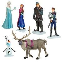 Frozen Figure Play Set Anna Elsa Hans Kristoff Sven Olaf 6pcs set classic toys baby toys elsa frozen figure doll toys for girl