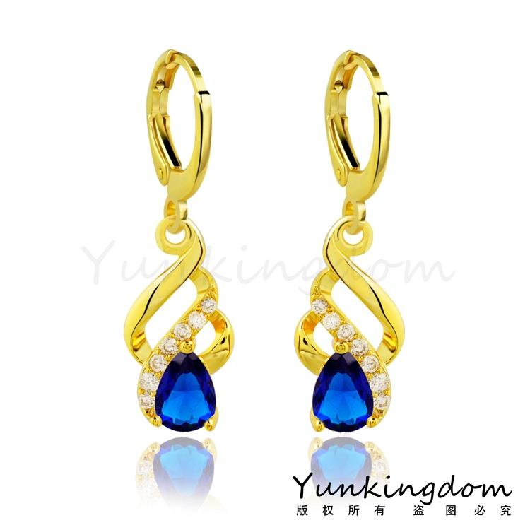 Dropship Free shipping 18K Rose Gold Filled Fashion Design Hot Romantic Cubic Zircon Lady Women Earrings Dangler Jewelry CZ0082(China (Mainland))