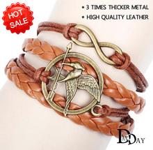 Fashion Vintage 2014 New Eiffel Tower Love Infinity Cross Multilayer Leather Bracelet, Men Women Bracelets & Bangles Jewelry