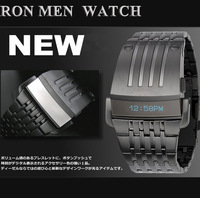 HOT  fashion men's sports watch Iron Man LED digital watch | stainless steel watches | military watches