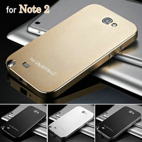 Ultrathin Anti Scratch Matte Metal Aluminum Hard Case for Samsung Galaxy Note 2 II N7100 Phone Back Cover Battery Housing