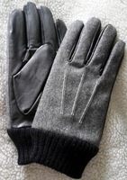 free shipping brand leather sample winter gloves sample gloves genuine leather fabric gloves men gloves