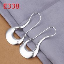 925 silver earrings fashion jewelry earrings beautiful earrings high quality flat smooth egg earrings E338 xs mq