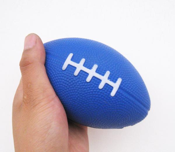 free shipping 13*8cm 3pcs/lot pu foam material football soccer stress ball,pu football toy,football squeeze ball(China (Mainland))