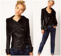 2014 New Leather Jacket Women Jaqueta Couro feminina coat leather clothing casual trench vestidos femininos motorcycle Coat