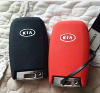 KIA K3 K5 Sorento Carens Cerato Forte car silicone rubber key cover key bag smart or flip key