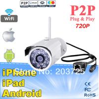 Onvif IP Camera Outdoor 720P Waterproof IP66 Network 1.0MP HD CCTV Camera P2P Plug Play