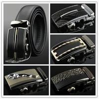 Fashion Genuine leather belts for men Business male Belt  Automatic Buckle double faced cowhide belt MZ005 Cintos cinturon