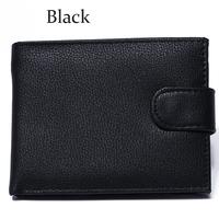 Business fashion black men wallet 100% cowhide genuine leather short 3 fold brief Credit card wallet Wholesale