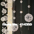Iron wire ball living room shoe crystal bead curtain entranceway curtain partition screen door curtain glass