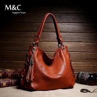 Women Handbag Genuine Leather Bag Cowhide Women Shoulder Bag Women Tassel Handbag Shoulder Bags Vintage Handbag women bag SD-012