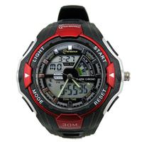 Dual Time 30m Waterproof  Big Case Sports Watch for Men/Mingrui Brand Men's Digital LED Watches 2014 New Clock MR10
