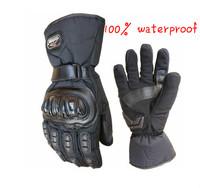 2014 Motorcycle Gloves Winter Warm Waterproof Windproof Protective Gloves 100% Waterproof Free Shipping