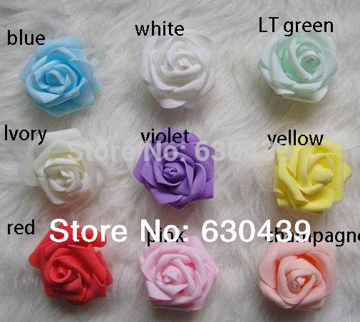 L'arrivée de nouveaux 11colors( 100pcs/sac) mousse rose fleur artificielle à domicile décoration de mariage fleurs 5-6cm livraison gratuite