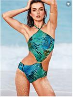New CUTOUT HALTER ONE-PIECE large size sexy swimwear beach  swimsuit  dress FOR WOMEN
