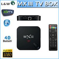 MXIII S802 Android 4.4 support 4K XBMC DLNA Miracast Airplay Wifi wifi MX III TV Box Quad Core Mali450 GPU 1G/8GB Media Player