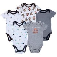 New 2014 Brand Baby Bodysuits, Short Sleeve Babies Newborn Cotton Body Baby Next Infant Bebe Boy & Girl Clothing set