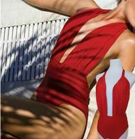 Free shipping 2014 new fashion wine red deep V vs bikini sexy swimwear female swimsuit