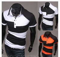 Hot New Arrival Mixed Colors Irregular Patterns Fashion Summer Men's Short Sleeve T-Shirts Three Colors For Choose Novelty