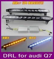 Good quality LED Daytime Running Light for Q7 2006-2010 LED DRL, signal daytime driving light,fog lamp fast shipping by EMS