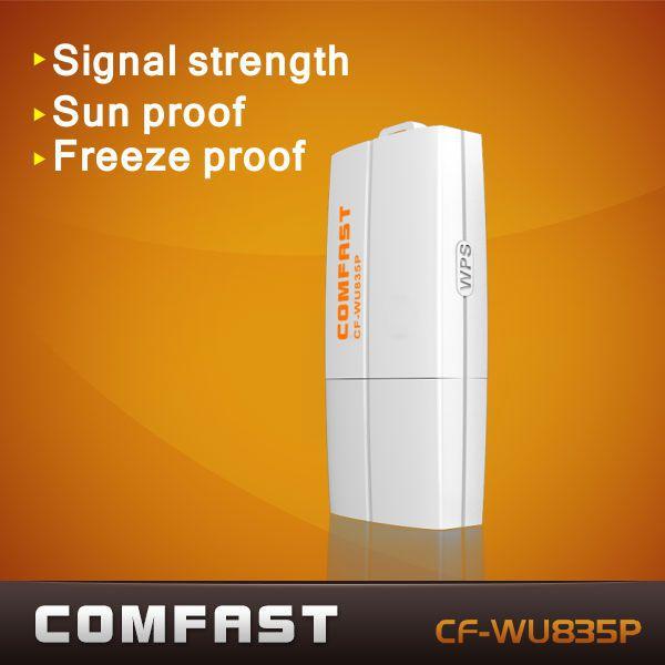 Livraison gratuite comfast cf-wu835p 2t2r 300 2mbps mini usb wifi adaptateur réseau avec une touche wps chiffrement wifi dongle